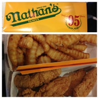 Photo taken at Nathan's Famous by William J. on 8/23/2012