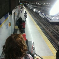Photo taken at Metro Moncloa by Javier O. on 4/27/2012
