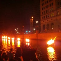 Photo taken at WaterFire Providence - Waterplace Park by Douglas L. on 9/2/2012
