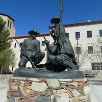 Photo taken at Traders Statue by New Mexico State University on 3/20/2012