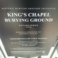 Photo taken at King's Chapel Burying Ground by Donell J. on 4/10/2012