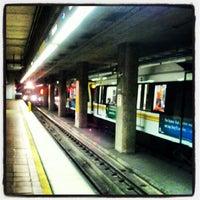 Photo taken at 7th St/Metro Center (Julian Dixon) Metro Station by Geoff S. on 8/18/2012