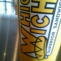 Photo taken at Which Wich? Superior Sandwiches by Naturallyfly E. on 5/10/2012
