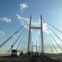 Photo taken at Yokohama Bay Bridge by Miyo F. on 3/25/2012