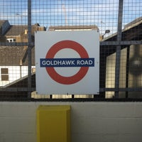 Photo taken at Goldhawk Road London Underground Station by Alistair on 6/20/2012