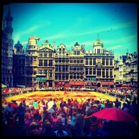 Photo taken at Grand Place by Olivier M. on 8/15/2012