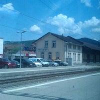 Photo taken at Gare de Delémont by Shyam P. on 5/31/2012