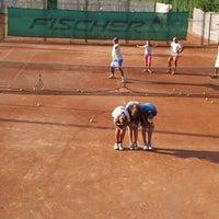 Photo taken at Röpte teniszpálya/lelátó :o) by Anikó Z. on 7/20/2012