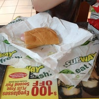 Photo taken at SUBWAY by Melissa on 5/18/2012