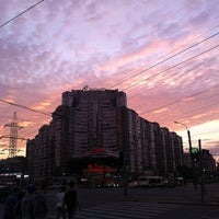 Photo taken at Остановка «Ст. м. Пионерская» by Oleg S. on 7/5/2012