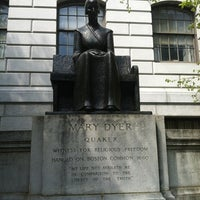 Photo taken at Mary Dyer Memorial Statue by kristi m. on 4/26/2012