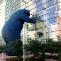 Photo taken at Big Blue Bear (I See What You Mean) by Alan C. on 5/15/2012