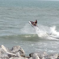 Photo taken at Jetty Park by Sherry M. on 3/9/2012