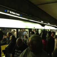 Photo taken at 7th St/Metro Center (Julian Dixon) Metro Station by Jason M. on 4/3/2012