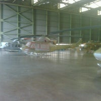Photo taken at Helicopter Hangar (AI) - PT. DI by Herry H. on 2/2/2012