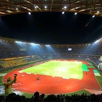 Photo taken at Stadion Utama Riau by Firmansyah I. on 7/6/2012