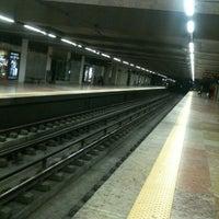 Photo taken at Metro Marquês de Pombal [AM,AZ] by Nuno M. on 3/3/2012