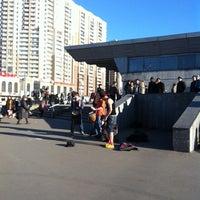 Photo taken at metro Pionerskaya by i.kate on 4/15/2012