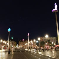 Photo taken at Place Masséna by Georg B. on 8/9/2012