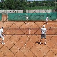 Photo taken at Röpte teniszpálya/lelátó :o) by Anikó Z. on 6/24/2012