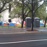 Photo taken at #OccupyMiami by Mark G. on 10/31/2011