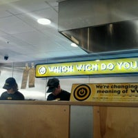 Photo taken at Which Wich? Superior Sandwiches by Sara D. on 6/6/2012