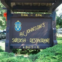 Photo taken at Al Johnson's Swedish Restaurant & Butik by Laura F. on 9/2/2012
