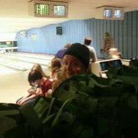 Photo taken at Highland Park Bowl Inc. by Crystal C. on 10/22/2011
