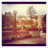 Photo taken at Plaza San Pedro de Deusto by Álvaro B. on 6/19/2012
