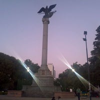 Photo taken at Plaza Italia by Matias I. on 1/13/2012