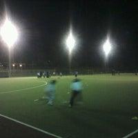 Photo taken at Canchas de entrenamiento del Estadio San Carlos de Apoquindo. by Joaquin G. on 5/15/2012