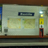 Photo taken at Métro Bastille [1,5,8] by David T. on 8/17/2012