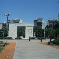 Photo taken at Parque Rivadavia by Virginia C. on 11/15/2011