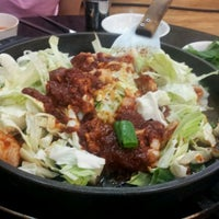 Photo taken at 5.5 닭갈비 막국수 전문점 by Chaerin Y. on 9/8/2011