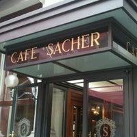 Photo taken at Café Sacher by KAZ I. on 9/23/2011