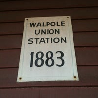 Photo taken at Walpole Train Station by Eric W. on 12/2/2011
