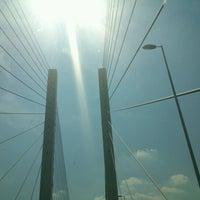 Photo taken at The Queen Elizabeth II Bridge by itsnoel .. on 7/25/2012