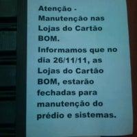 Photo taken at LOJA CARTÃO BOM – Osasco by Jurandi F. on 11/26/2011