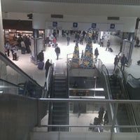 Photo taken at South Bus Station of Madrid by Veronica L. on 12/26/2011