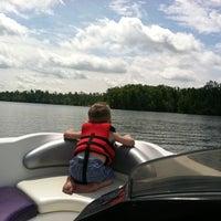 Photo taken at Lake Tobosofkee by Chris W. on 5/14/2011