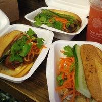 Photo taken at Num Pang Sandwich Shop by Robert C. on 7/8/2012