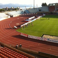 Photo taken at Stade olympique de la Pontaise by Blaise Reymondin Digital Marketing R. on 5/16/2011