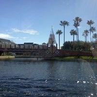 Photo taken at Friendship Boat Dock - Disney's Hollywood Studios by Lara H. on 2/12/2012