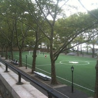 Photo taken at 101 Street Soccer Field by Sean H. on 9/10/2011