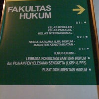 Photo taken at Fakultas Hukum by Nathano on 3/16/2011