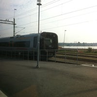 Photo taken at Sölvesborg Station by Petra Charlotte A. on 9/25/2011