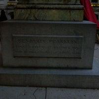 Photo taken at Benjamin Franklin Statue by Allan K. on 11/2/2011