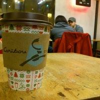 Photo taken at Caribou Coffee by Javi on 1/29/2012