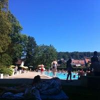 Photo taken at Gartenbad Bottmingen by Daniel F. on 8/18/2012