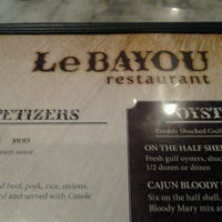 Photo taken at Le Bayou Restaurant by Leslie B. on 6/17/2012